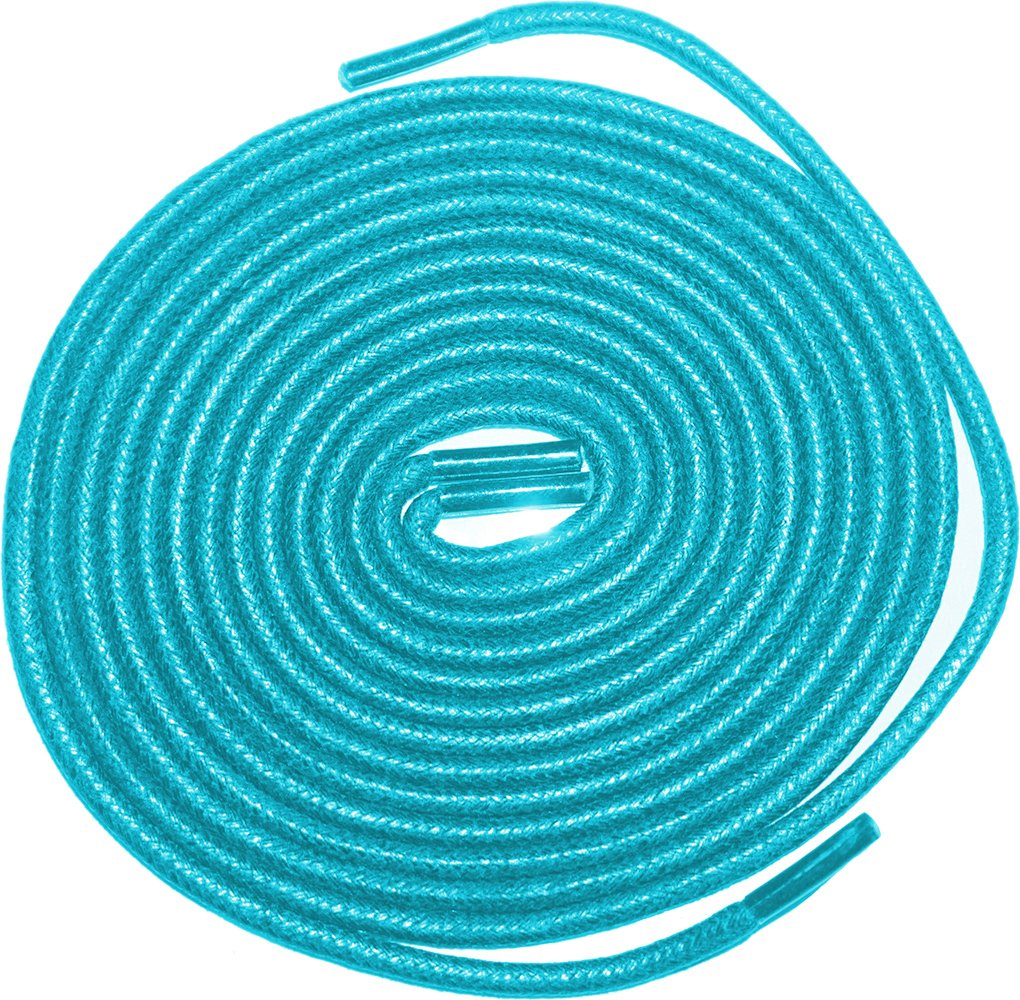 Shoeslulu 35'' Premium Round Waxed Canvas Shoelaces Bootlaces (35 in. (90 cm), Electric Blue) by Shoeslulu (Image #1)