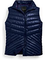 Talbots Chevron Quilted Puffer Vest