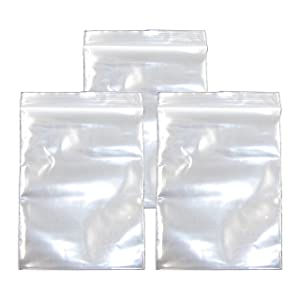 2.7x3.9 Inch, 300 Pack, Small Clear Resealable Zipper Poly Bags 2 Mil Thick, Food Grade Safe Reclosable Zipper Storage Plastic Bags for Jewelry,Candy,Beads etc JBingGG