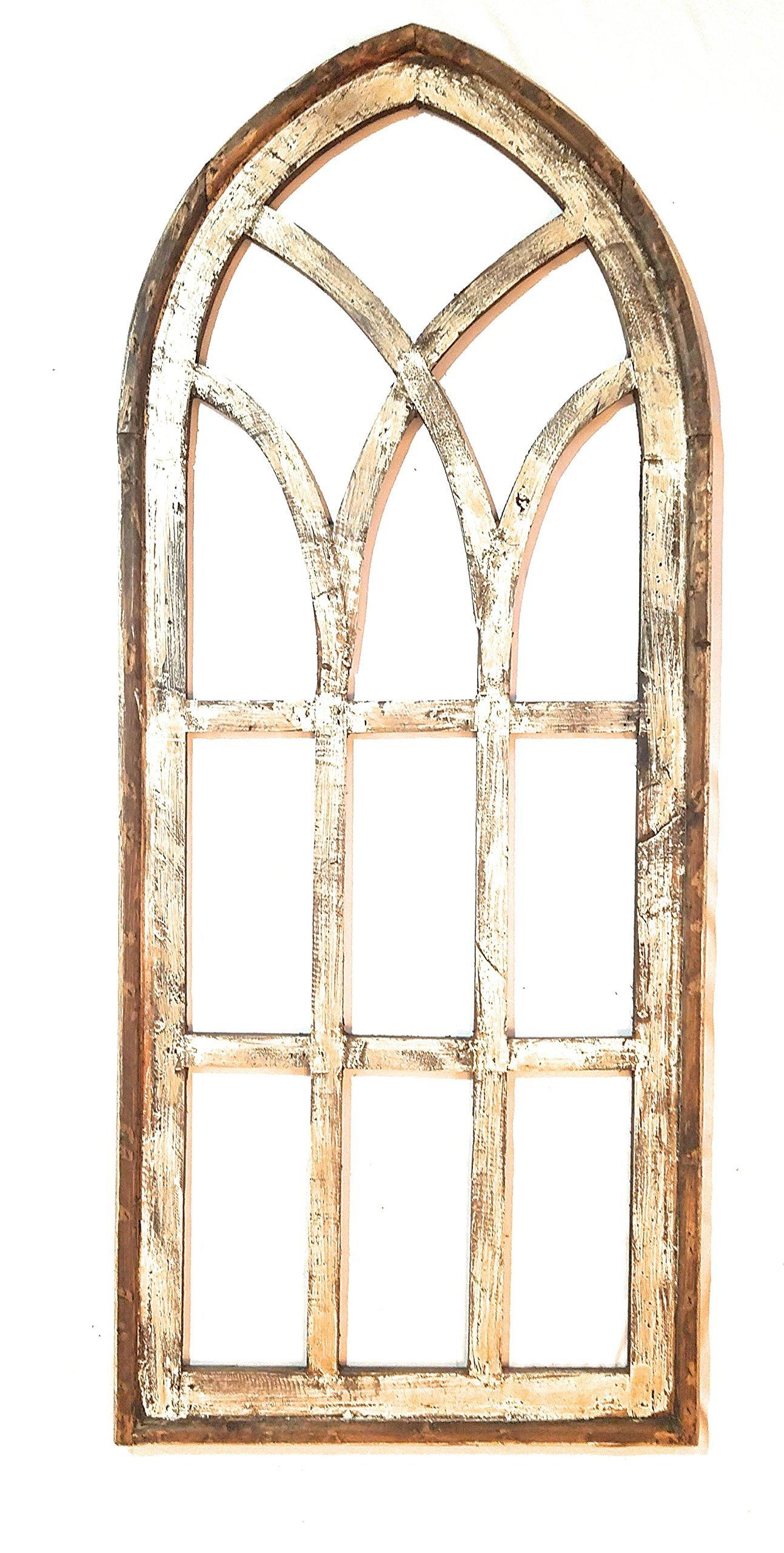 Farmhouse Wooden Wall Window -Tall Wood Window- Tall Oaks