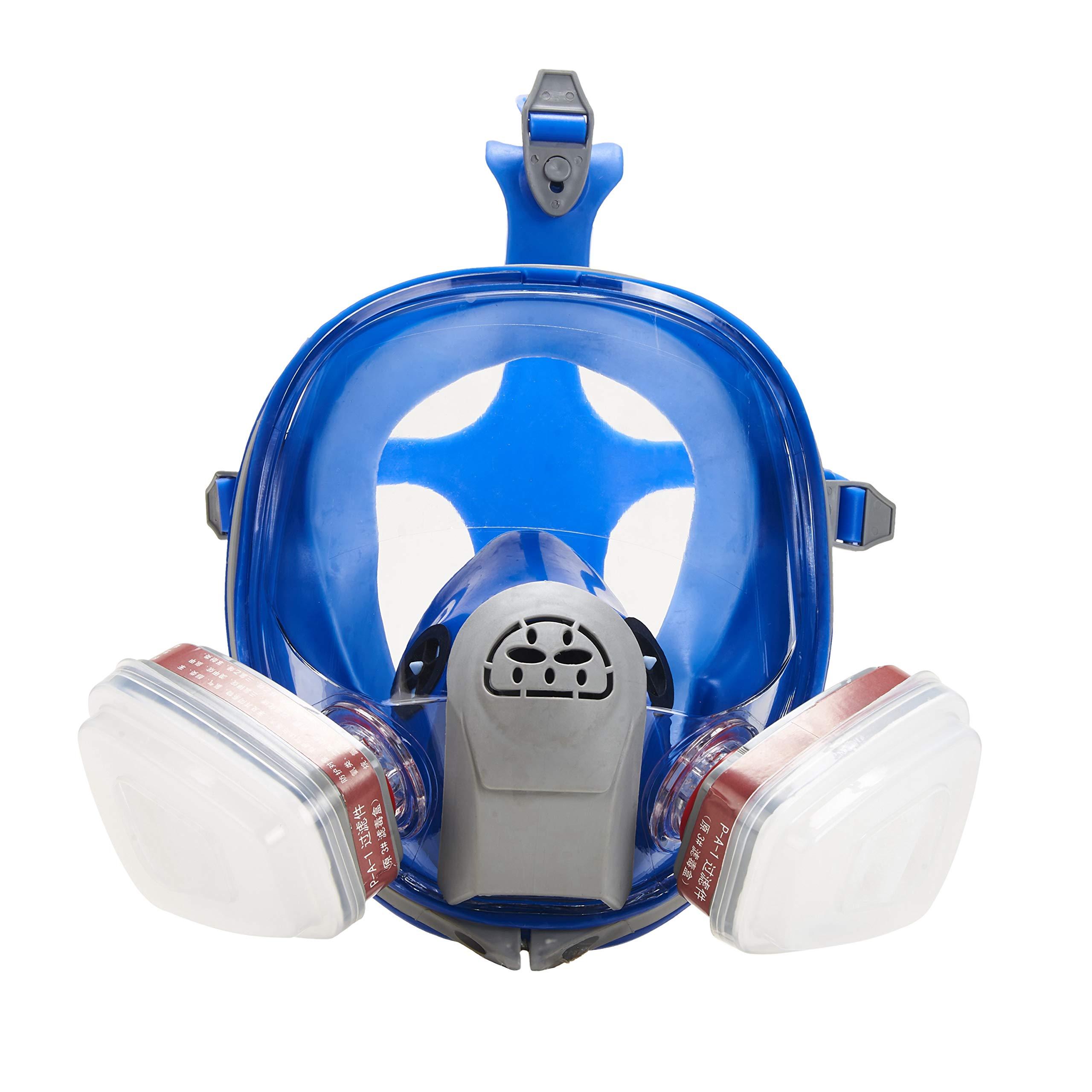 Holulo Organic Vapor Full Face Respirator Respiratory Safety Mask Paint Chemical Formaldehyde Anti Virus (Safety mask+LDY3 Filter cartridge+Filter cotton)
