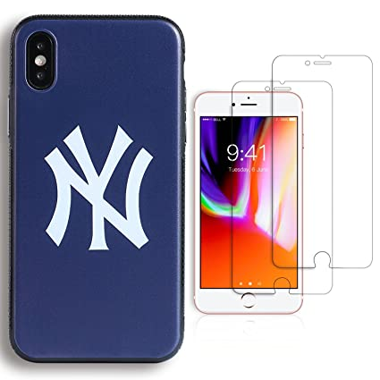 """check out f7e0c 2dda5 Sportula MLB New York Yankees Phone Case, for iPhone X 2017, matching 2  Premium Screen Protectors Extra Value Set - for iPhone X (5.8"""")"""