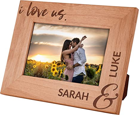 Wedding Couple Personalized Wedding Engagement Distressed Vintage Picture 4x6 Photo Frame Keepsake Personalized Gift