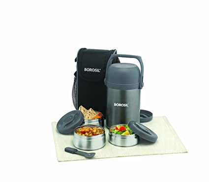 Buy Borosil Hydra Hot N Fresh Stainless Steel Lunch Box Set 3