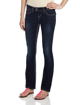 6edf41e1 Amazon.com: Silver Jeans Women's Tuesday Flap Pocket Bootcut Jean: Clothing