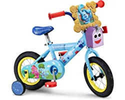 Nickelodeon Blue's Clues & You! Kids Bike, 12-Inch Wheels, Ages 2-4 Year Old, Training Wheels Included, Blue