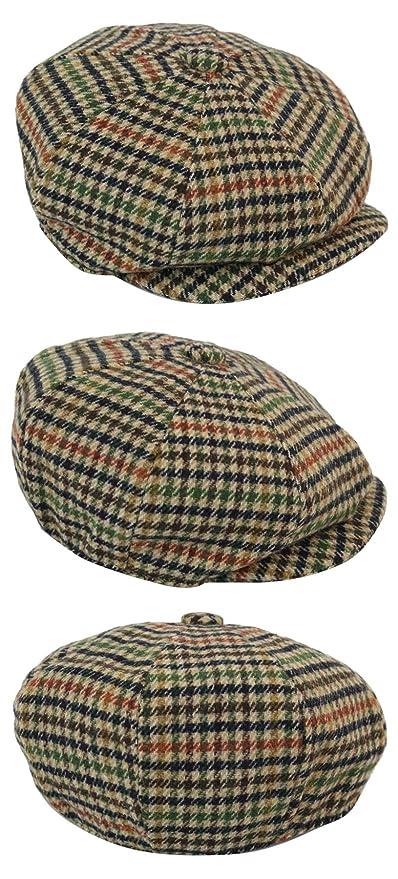 King Ice Mens Wool Tweed Newsboy Cap Peaky Blinders Baker Boy Flat Check  Grandad Hat at Amazon Men s Clothing store  22684c7aea1c