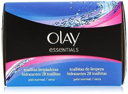 Olay Essentials - Toallitas limpiadoras hidratantes - para piel normal y seca - 28 unidades