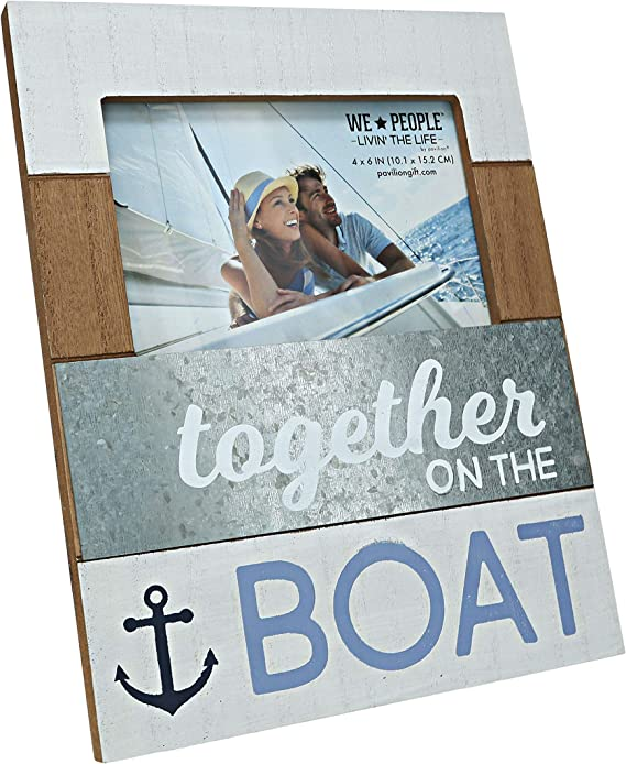 Together On The Boat Picture Frame