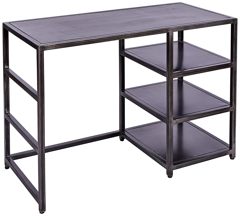 Better & Best 3041075 Mesa de despacho de 3 baldas en hierro ...
