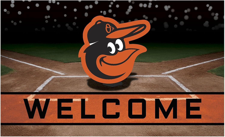 FANMATS 21911 Team Color Crumb Rubber Baltimore Orioles Door Mat