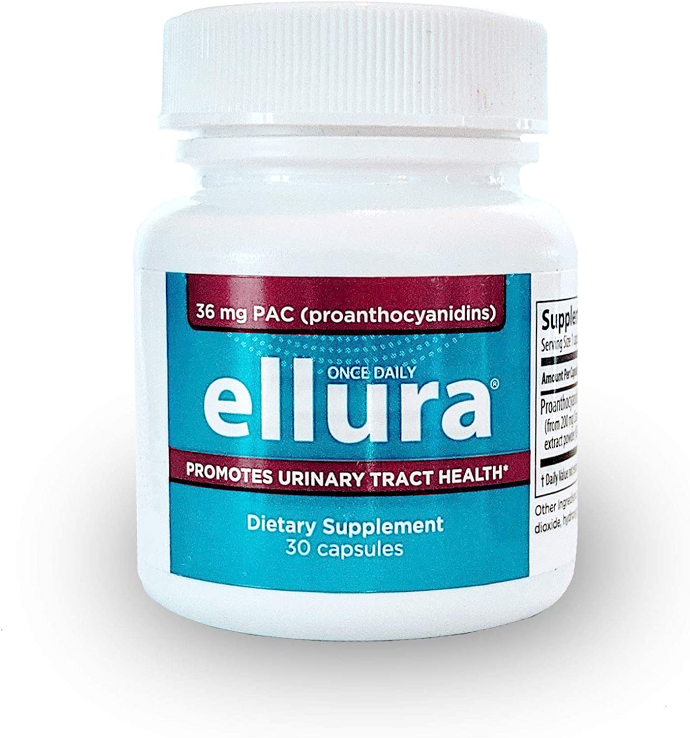 ellura 36 mg PAC (30 caps) – Highly Effective Urinary Tract Supplement: Health & Personal Care