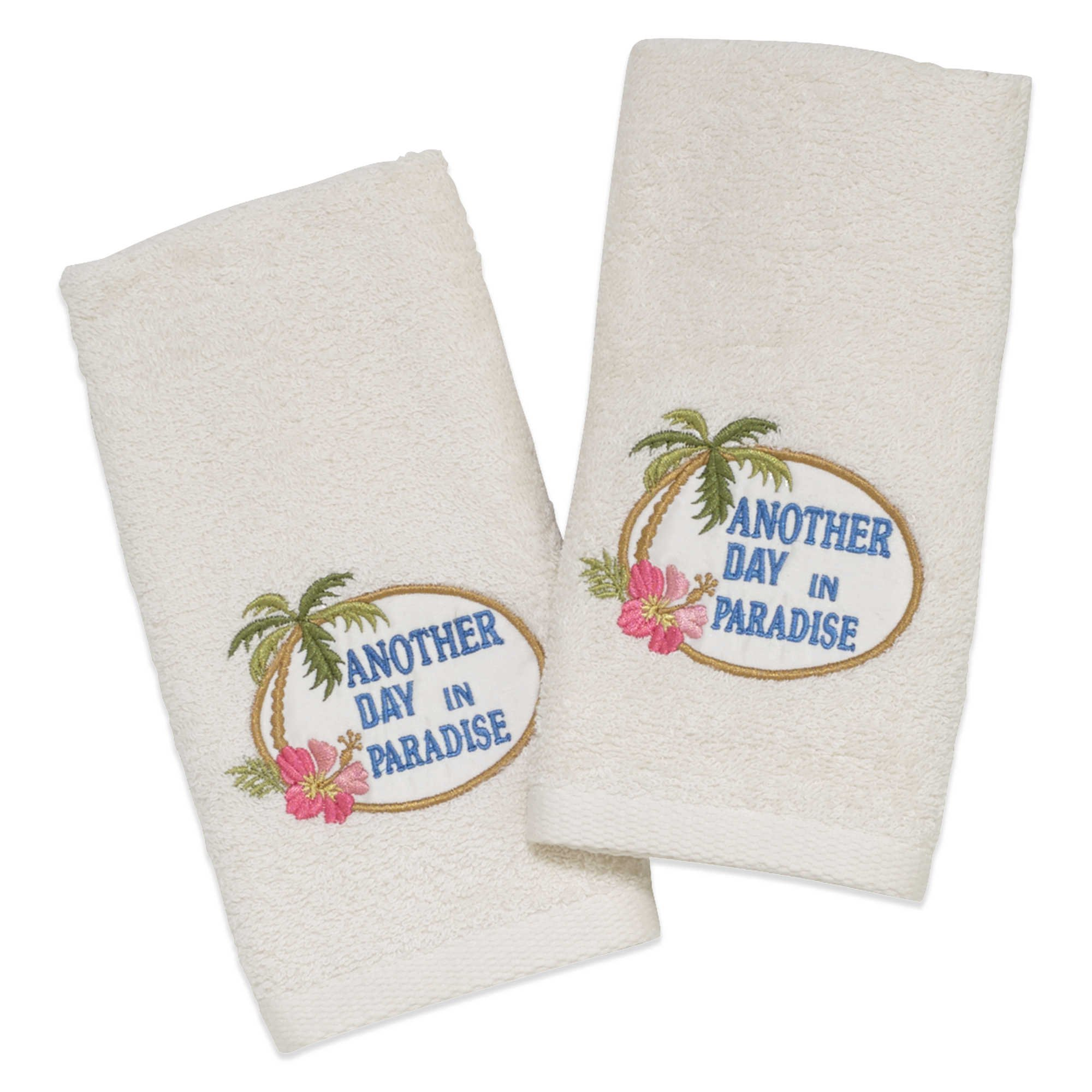 Avanti ''Another Day in Paradise'' Fingertip Towel in Ivory (Set of 2) by HometoDeals (Image #1)