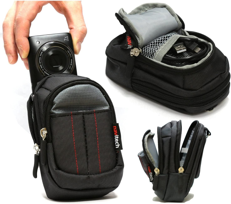 Navitech Black Digital Camera Case Bag For The Olympus V104160BE000 Tough TG-4