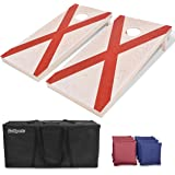 GoSports Flag Series Wood Cornhole Sets – Choose from American Flag, State Flags and More – Includes Two Regulation Size 4' x 2' Boards, 8 Bean Bags, Carrying Case and Game Rules