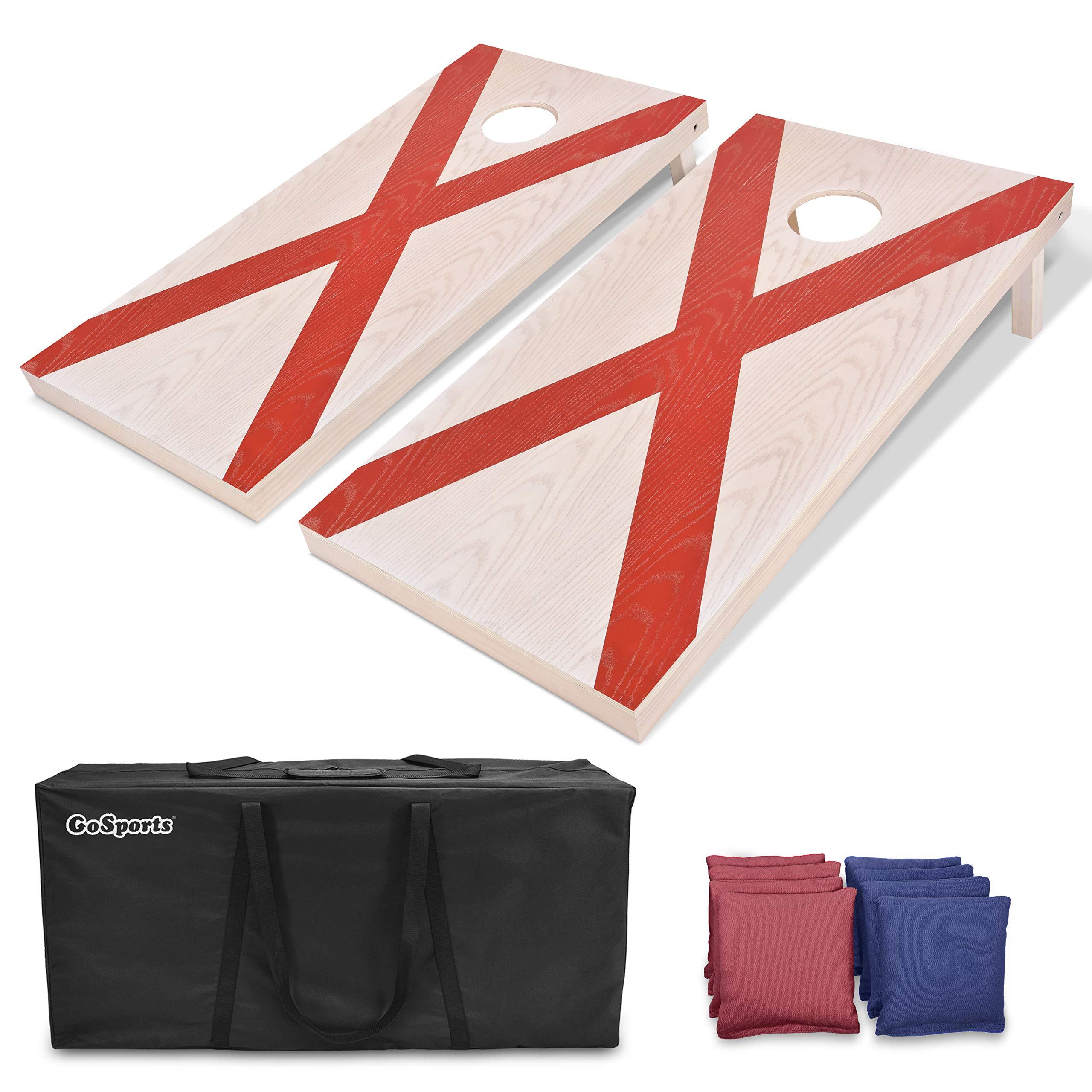 GoSports Flag Series Wood Cornhole Sets