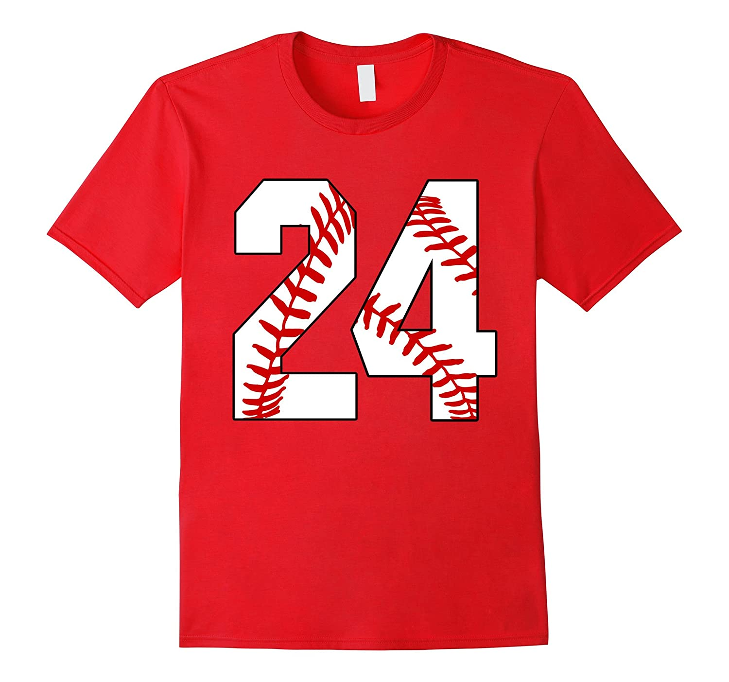 24 Baseball Lover Twenty-Four Player Baseball Mom T-shirt-PL