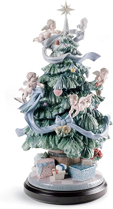 Amazon.com: LLADRÓ Great Christmas Tree Figurine. Limited Edition