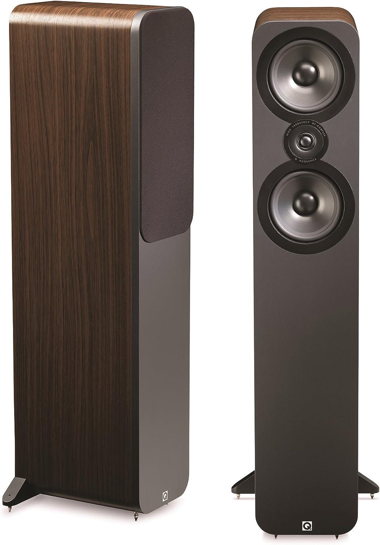Q Acoustics 3050 - Altavoz de estantería, nuez (2 unidades)