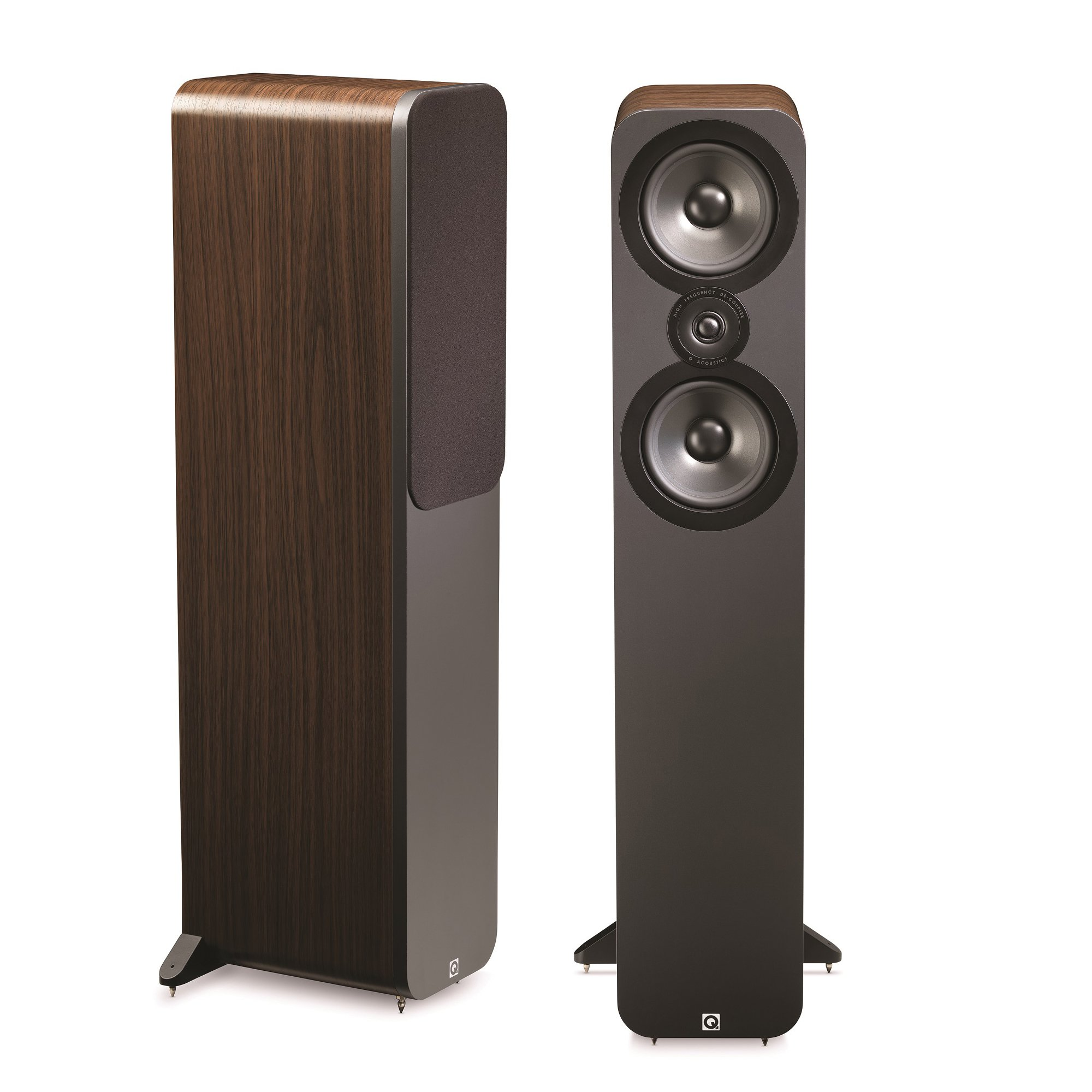 Q Acoustics 3050 Floorstanding Speakers (Pair) (American Walnut) by Q Acoustics