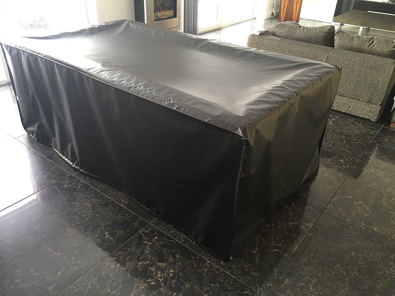 2,4m Heavy Duty Housse de table de billard/snooker, Full Jupe, fabriqué au Royaume-Uni HIDEAWAY Products