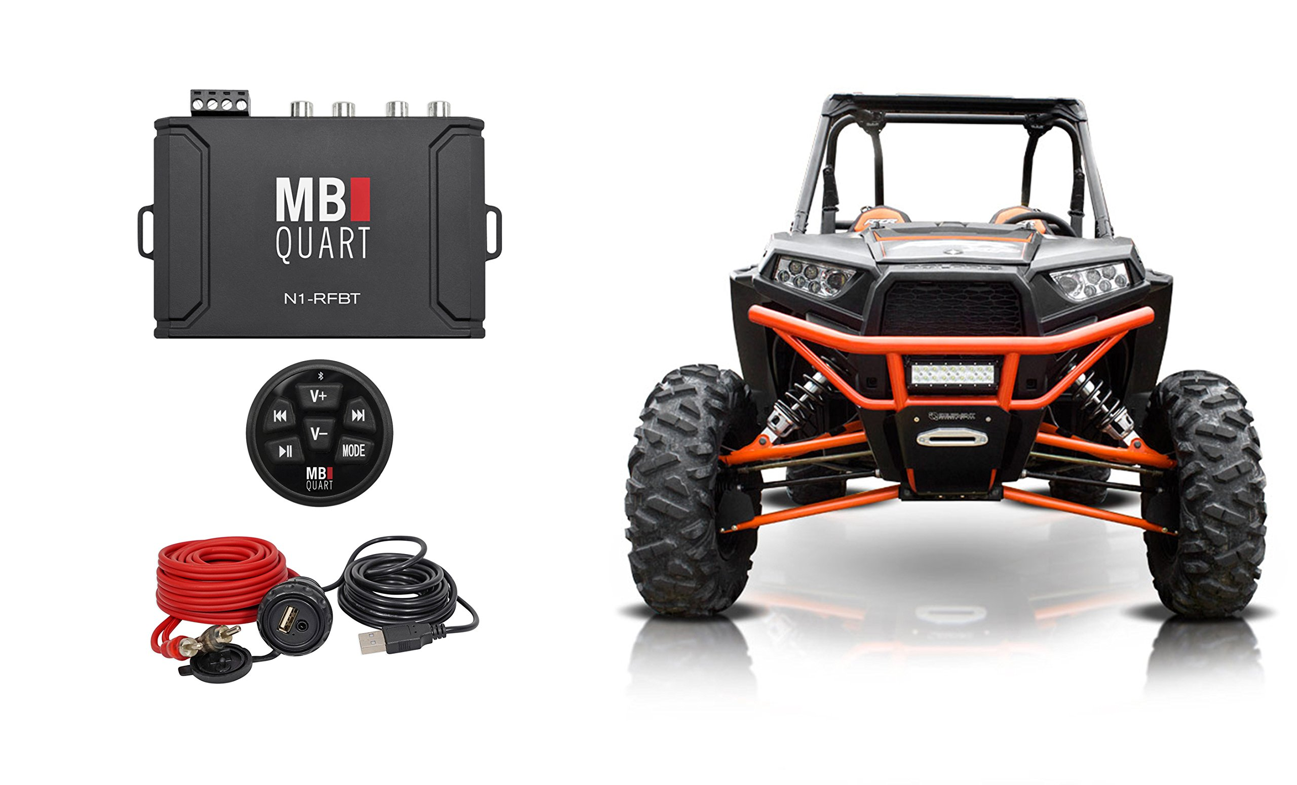 MB QUART N1-RFBT Wireless Bluetooth Preamp Controller+USB+3.5mm Plug ATV/UTV/RZR
