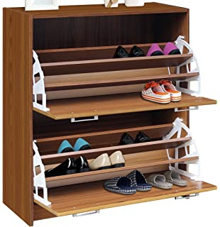 Amazon.com: 4D Concepts Deluxe Single Shoe Cabinet, Oak: Kitchen ...