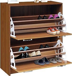 4D Concepts DELUXE DOUBLE SHOE CABINET(light walnut) & Amazon.com: Baxton Studio Simms Shoe Cabinet in Dark Brown: Home ...