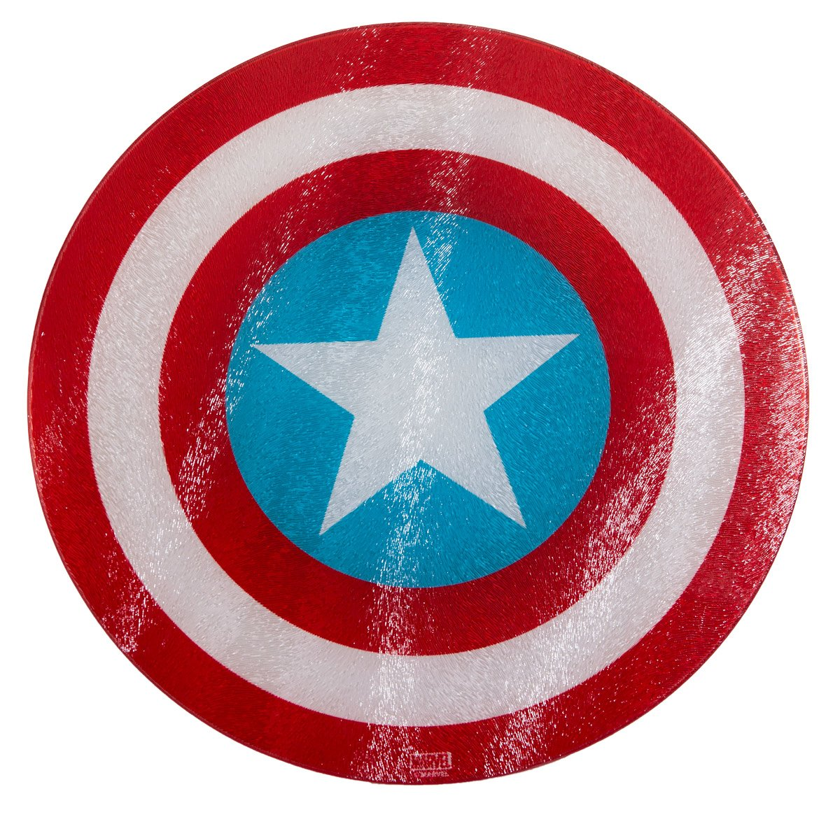 Marvel Captain America Tempered Glass 12 Inch Cutting Board