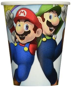 Super Mario 8 unidades vasos de cartón – Por 266 ml – Mario Cups
