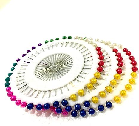 M vir bola cabeza recta Sikh turbante pins multicolor Pack de 40 de acolchar costura sastre pin 1,5 cm de largo: Amazon.es: Juguetes y juegos