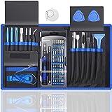 80 IN 1 Professional Computer Repair Tool Kit, Precision Laptop Screwdriver Set, with 56 Bit, Anti-Static Wrist and 24 Repair Tools, Suitable for Macbook, PC, Tablet, PS4, Xbox Controller Repair