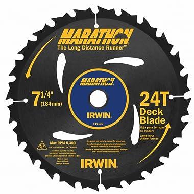 Irwin Marathon 14130 7-1/4  24 Tooth Portable Corded Circular Saw Blades