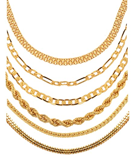 Buy Aanyacentric Golden Heavy Long Gold Plated Statement Exclusive