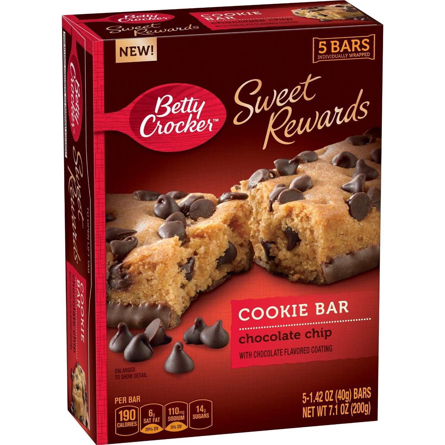 Betty Crocker, Sweet Rewards Bars, 5 Count, 7.1oz Box (Pack of 4 ...