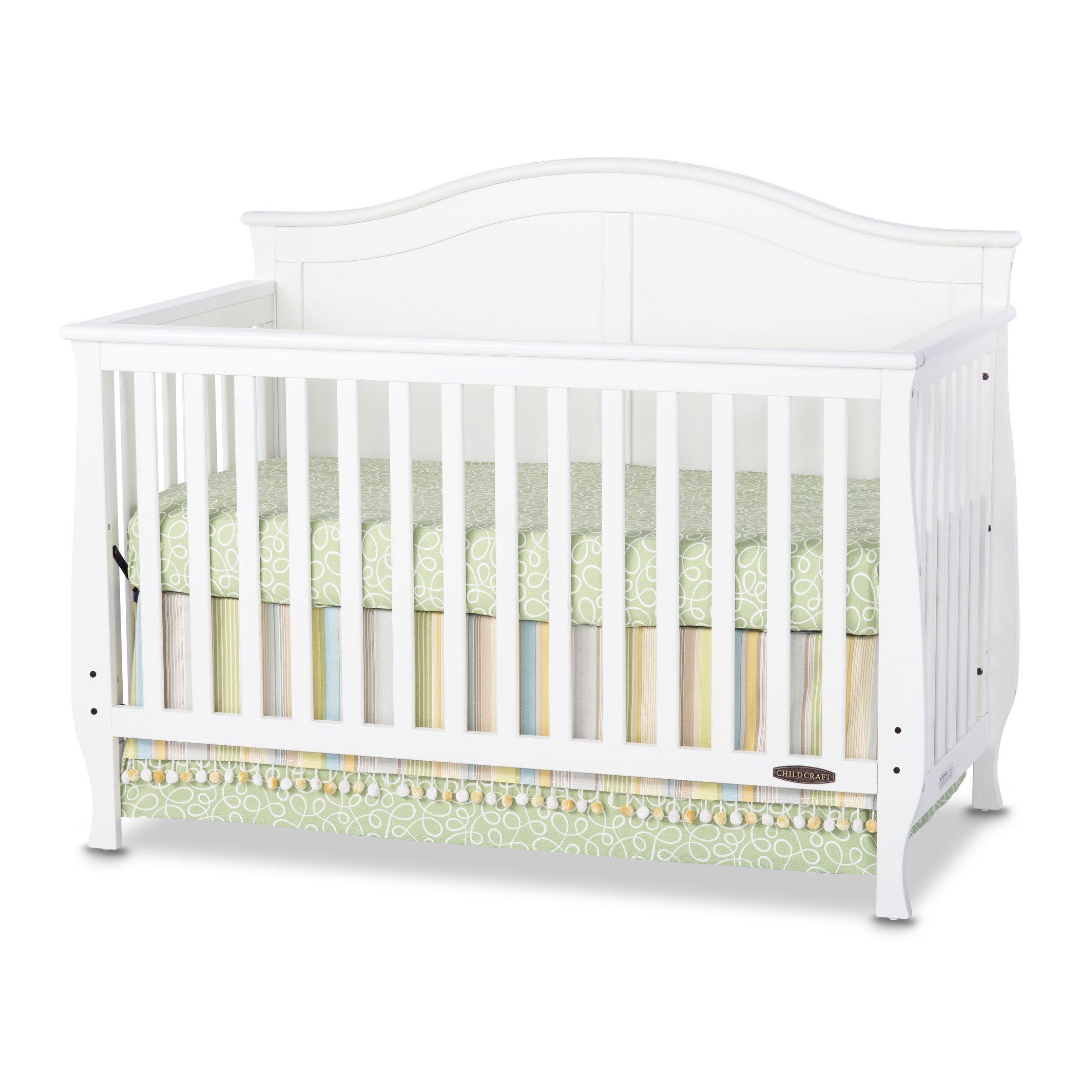 Child Craft Camden 4-in-1 Lifetime Convertible Crib, White