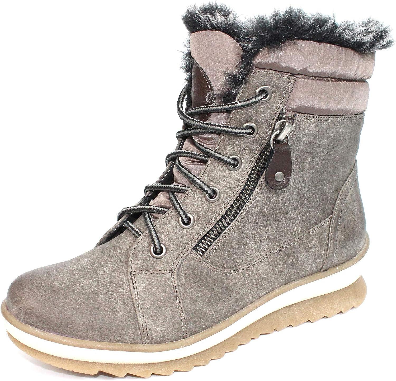 Lunar Amelia Faux Fur Lace Boot 3 UK