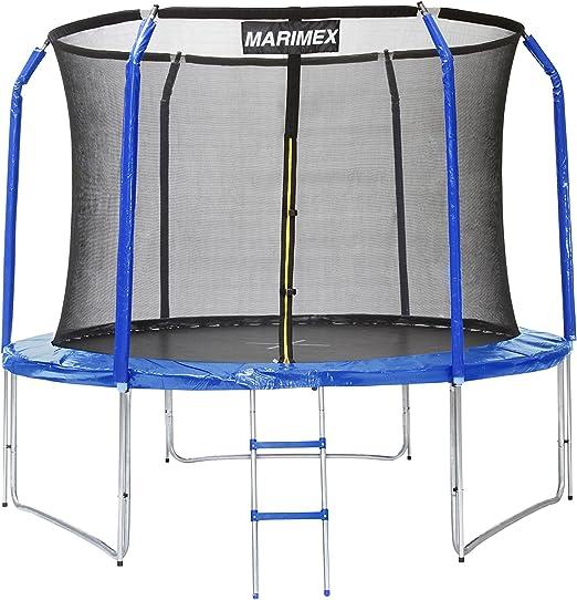 Marimex Cama elástica trampolín de jardín 3,05 m, Azul, 305 x 305 ...