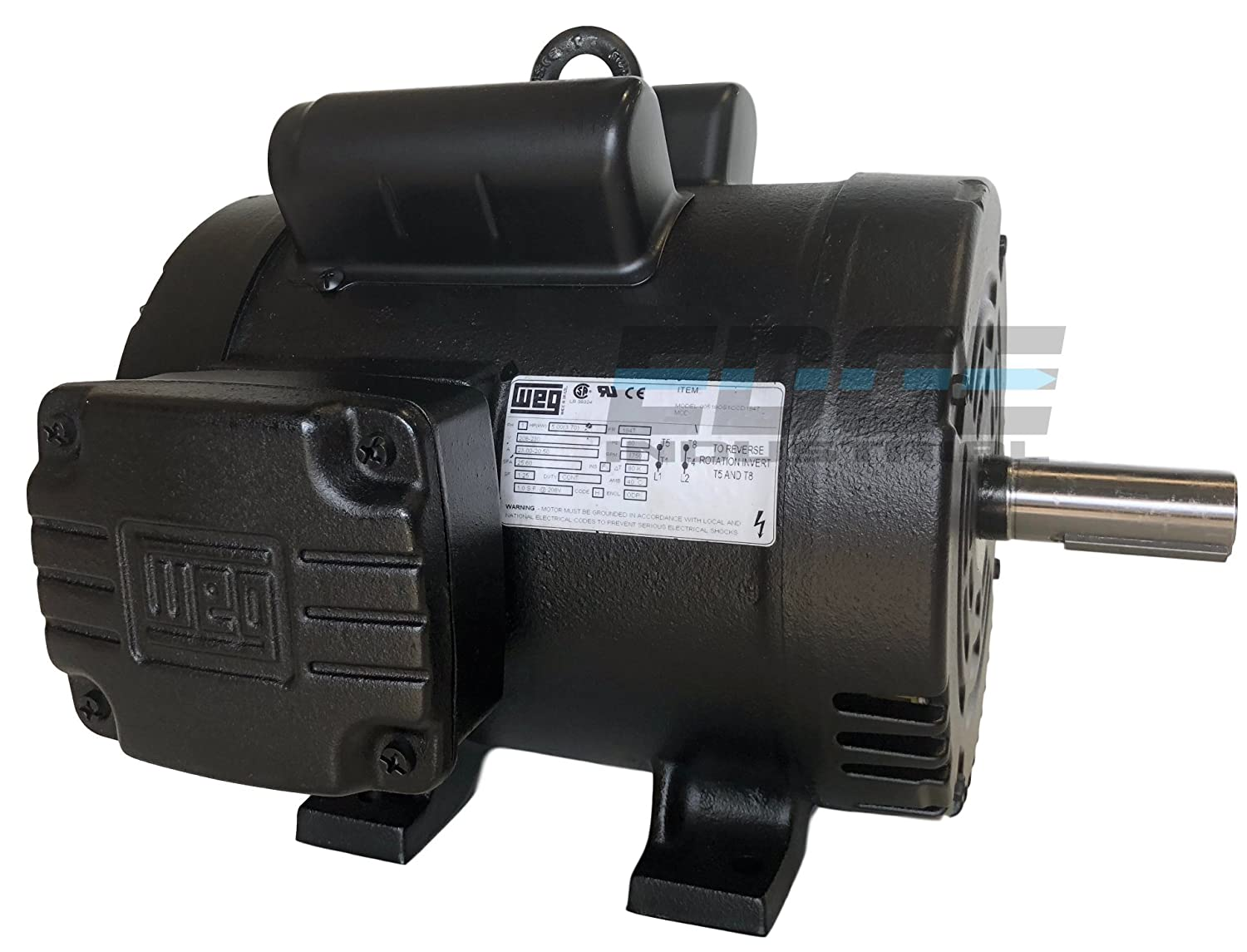 New 5hp 184t Frame Weg Electric Motor For Air Compressor 1750 Rpm Baldor 3 Hp Wiring Diagram Tags This Is 230v 215 Amp