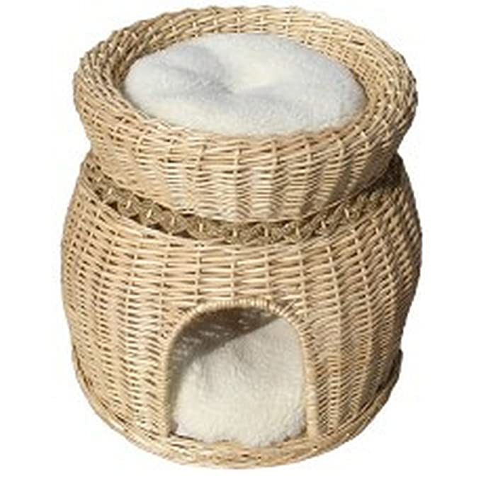 Vital Pet Products - Cesta para gatos con cojines (Talla Única/Roble)