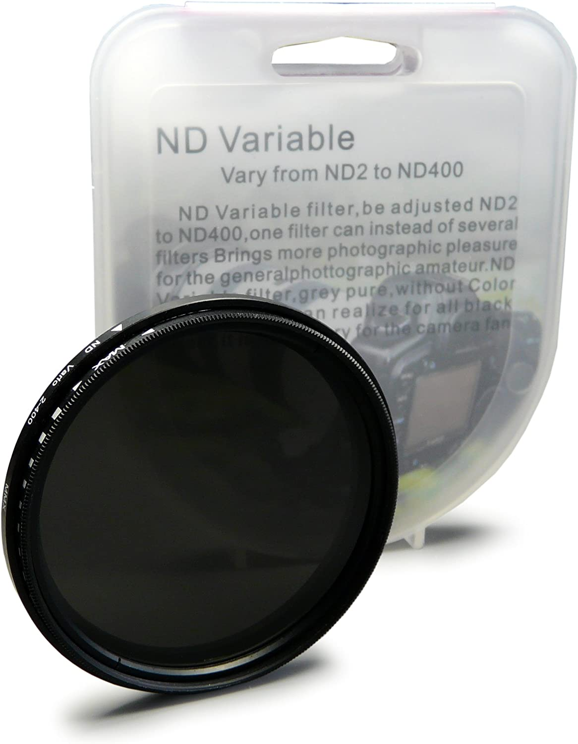 ND400 Adjustable Variable Filter for Canon EOS 40D 6D 60D 5D Mark III 7D 67mm ND Fader Neutral Density ND2 EOS 1D X.
