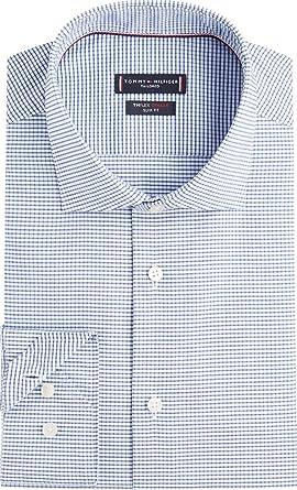 Tommy Hilfiger TT0TT05567 - Camisa de cuello flexible para hombre, color blanco y azul: Amazon.es: Ropa y accesorios
