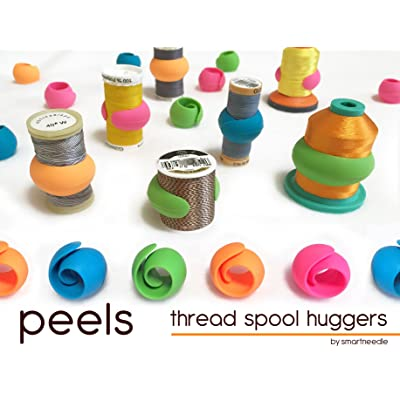 THREAD SPOOL HUGGERS, 'PEELS ...Keep Thread Tails Under Control'