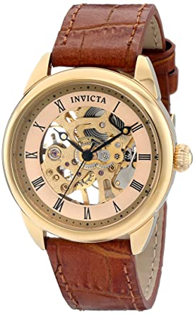 Invicta Womens 17197 Specialty Analog Display Mechanical Hand Wind Brown Watch