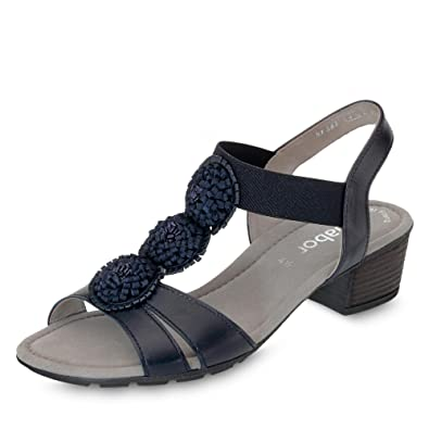 Gabor Casual Sandalette in Übergrößen Blau 84.563.26 Große Damenschuhe, Größe:43