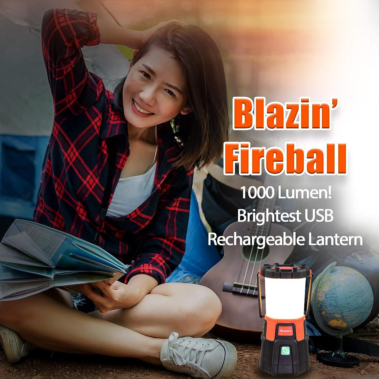 Lanterne de boule de feu 1000/lm Rechargeable