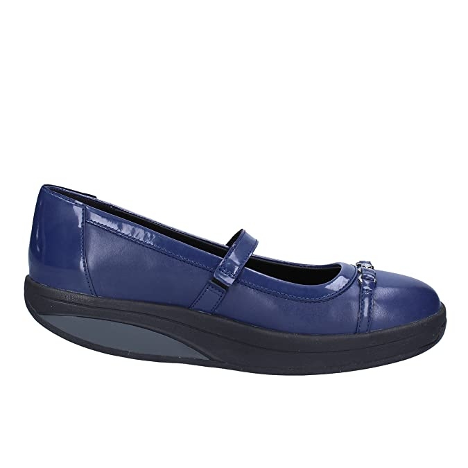 Amazon.com | MBT Flats Woman 6, 5 US/37 EU Blue Leather Patent Leather |  Flats
