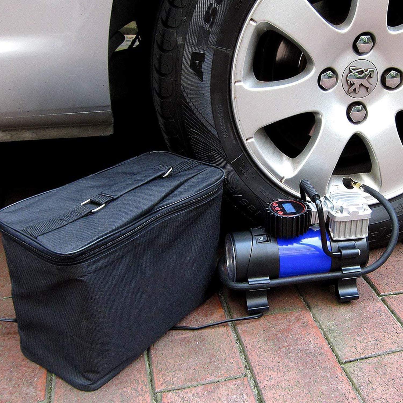 LYSNSH 12V DC Portable Air Compressor 150 PSI Digital Tire Inflator Tire Pump with Pressure Gauge