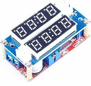 KNACRO DC-DC Converter Buck Regulator 5V-30V to 0.8-29V Constant Current/Voltage Power Supply Module 5A, LED Ammeter Voltmeter Display