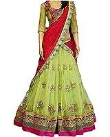 Salwar Style Women's Party Wear Navratri New Collection Special Sale Offer Bollywood Light Green Georgette Heavy Bridal Wedding Lehenga | Chaniya Ghagra Choli